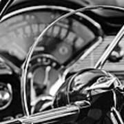 1956 Chevrolet Belair Steering Wheel Art Print