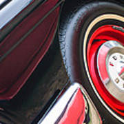1957 Ford Fairlane Convertible Wheel Emblem Art Print