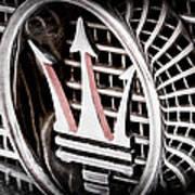 1957 Maserati Grille Emblem Art Print