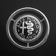 1961 Alfa Romeo Giulietta Sprint Veloce Series II Emblem -1045bw Art Print