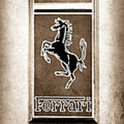 1959 Ferrari 250 Gt Emblem Art Print