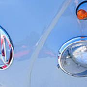 1959 Volkswagen Vw Panel Delivery Van Emblem Art Print