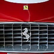1960 Ferrari 250 Gt Swb Berlinetta Competizione Grille Emblem Art Print