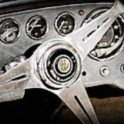 1960 Maserati Steering Wheel Emblem Art Print