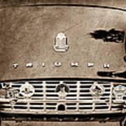 1960 Triumph Tr 3 Grille Emblems Art Print