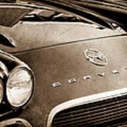 1962 Chevrolet Corvette Hood Emblems Art Print