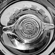 1962 Ghia L6.4 Coupe Wheel Emblem -2169bw Art Print