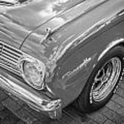 1963 Ford Falcon Sprint Convertible Bw  Art Print by Rich Franco