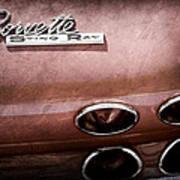 1965 Chevrolet Corvette Taillight Emblem Art Print