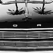 1966 Ford Galaxie 500 Convertible Grille Emblem - Hood Ornament Art Print