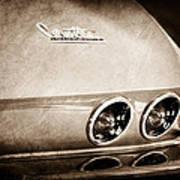 1967 Chevrolet Corvette Taillight Art Print