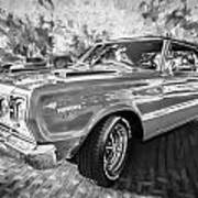 1967 Plymouth Belvedere Gtx 440 Painted Bw Art Print