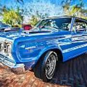 1967 Plymouth Belvedere Gtx 440 Painted  Art Print