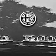 1969 Alfa Romeo Spider Veloce Iniezione Emblem Art Print