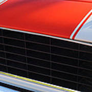 96 Inch Panoramic -1969 Chevrolet Camaro Rs-ss Indy Pace Car Replica Grille - Hood Emblems Art Print