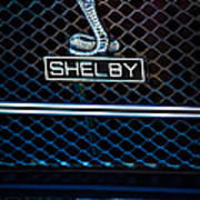 1969 Shelby Gt500 Convertible 428 Cobra Jet Grille Emblem Art Print
