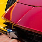 1971 Ferrari 365 Gtb-4 Daytona Spyder Hood Emblem Art Print