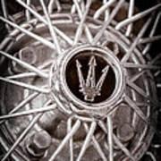 1972 Maserati Ghibli 4.9 Ss Spyder Wheel Emblem Art Print