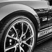 2007 Ford Mustang Shelby Gt Painted Bw   Art Print