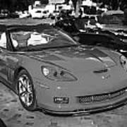 2010 Chevrolet Corvette Grand Sport Bw  Art Print