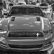 2013 Ford Mustang Gt Cs Painted Bw Art Print