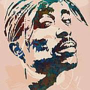2pac Tupac Shakur Stylised Pop Art Poster Art Print