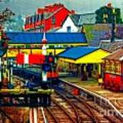 A Digitally Converted Painting Of Llangollen Railway Station North Wales Uk Art Print