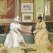 A Friendly Call Art Print by William Merritt Chase