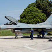 A Hellenic Air Force F-16c Block 52+ Art Print