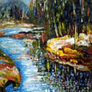 A Morning At River Bank Park Ny Art Print