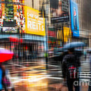 A Rainy Day In New York Art Print by Hannes Cmarits