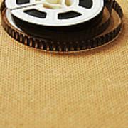 A Reel, Or Spool, Of 8mm Movie Film Art Print