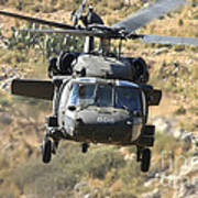 A Uh-60l Yanshuf Helicopter Art Print