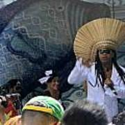 A View Of Carlinhos Brown At The 2009 Cleansing Of 46th Street Art Print