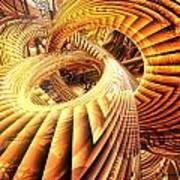 Abstract That Twisted Escher Fx  Art Print