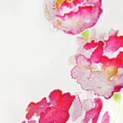 Abstract Watercolour Flowers Art Print