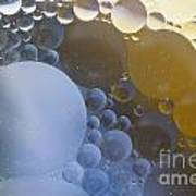 Abstraction Oil Bubbles In Water Art Print