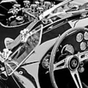 Ac Shelby Cobra Engine - Steering Wheel Art Print by Jill Reger