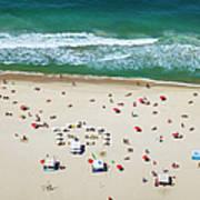 Aereal View Of Copacabana Beach In Rio Art Print