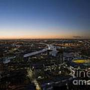 Aerial View Of Melbourne Art Print
