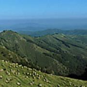 Aerial View Of Mountain Range Art Print