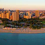 Aerial View Of North Avenue Beach Art Print