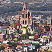 Aerial View Of San Miguel De Allende Art Print