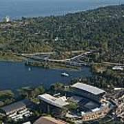 Aerial View Of The New Husky Stadium Art Print