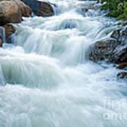 Alluvial Fan Falls On Roaring River In Rocky Mountain National Park Art Print