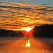 American Lake Sunrise Art Print