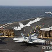 An Fa-18 Hornet Launches Art Print