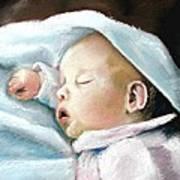 Angel Sleeping Art Print by Lenore Gaudet