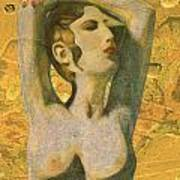 Aphrodite And Cyprus Map Art Print