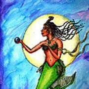 Arania Queen Of The Black Pearl Art Print